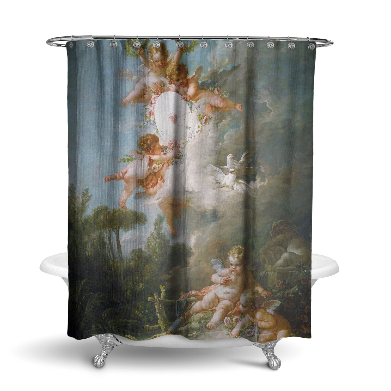 «Ангелы» штора для ванной