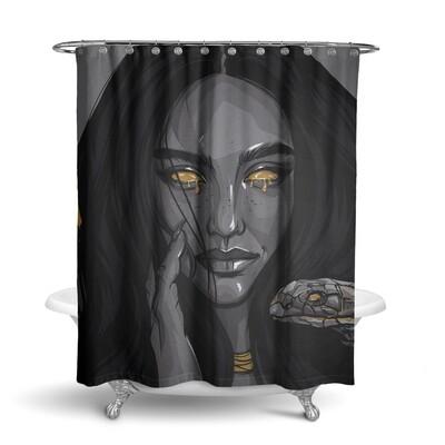 «Змея» штора для ванной