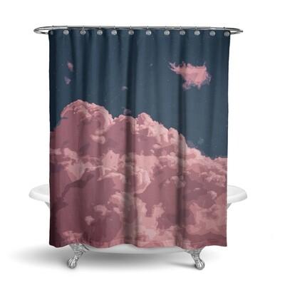 «Облака» штора для ванной