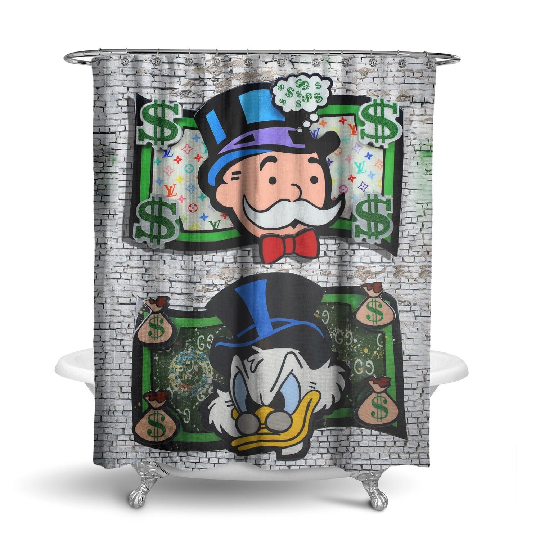 «Scrooge & Mr. Monopoly / Money Art» штора для ванной