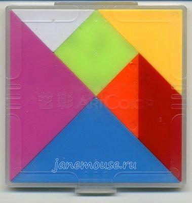 Танграм пластиковый (с заданиями PDF)
