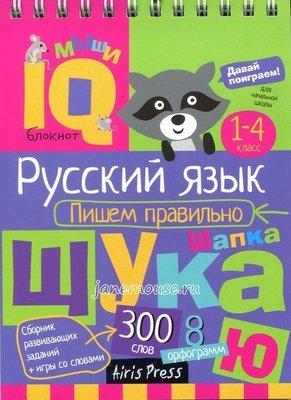 Русский язык. Пишем правильно. Умный блокнот