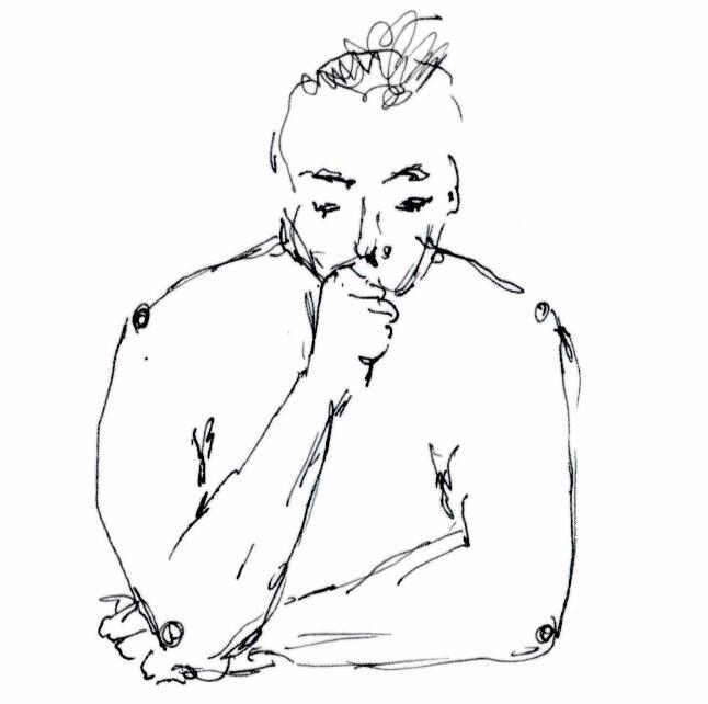 Sketch of Thinking Man