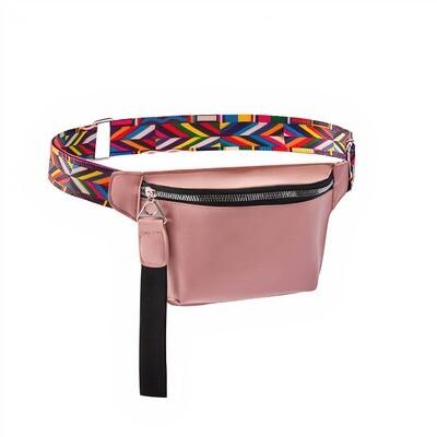Rose Belt Bag with Designed Strap