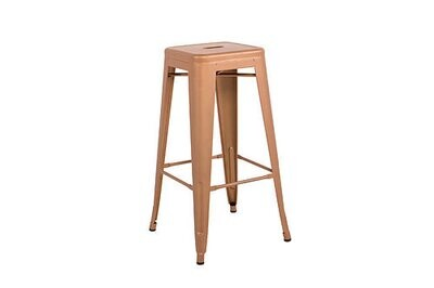 Copper painted metal barstool (2nd Hand)