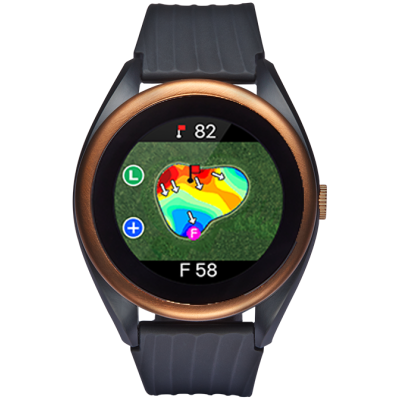 T8 Golf GPS Watch W/ Green Undulation And V.AI