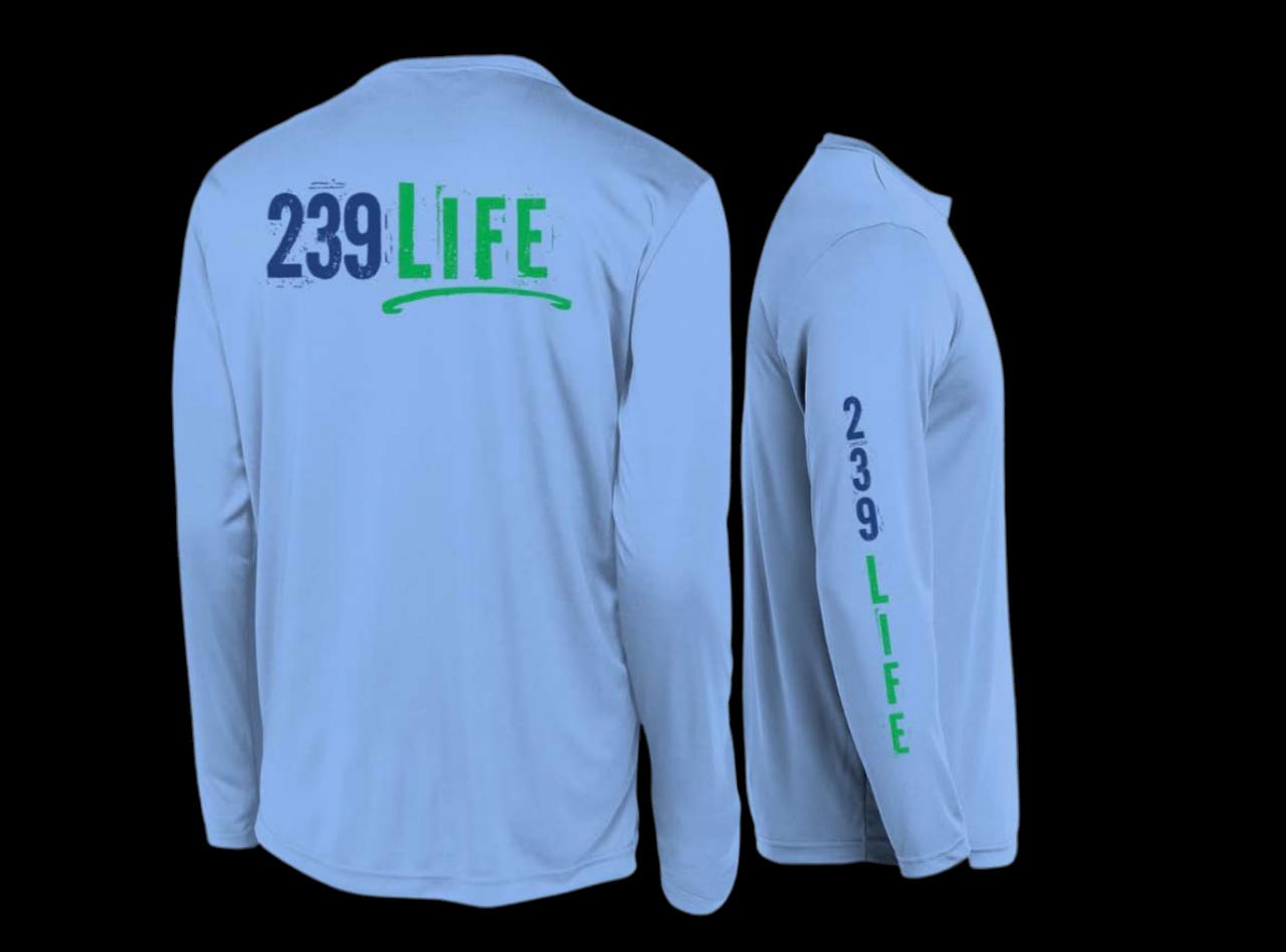 239Life Carolina Blue Logo Shirt