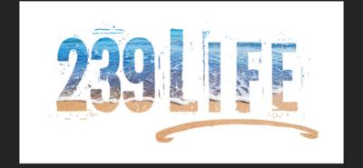 239Life Beach Vinyl Window Decal