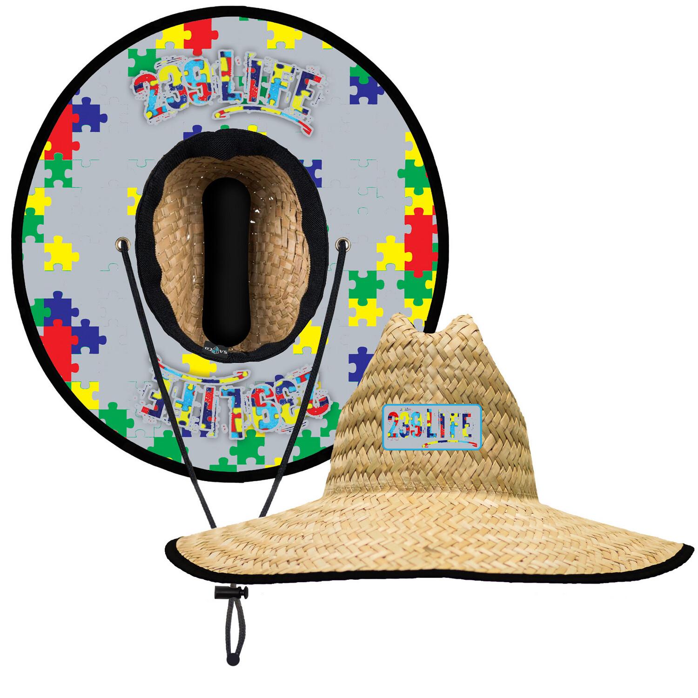 239Life Autism Straw Hat