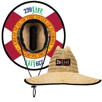 239Life Florida Flag Straw Hat