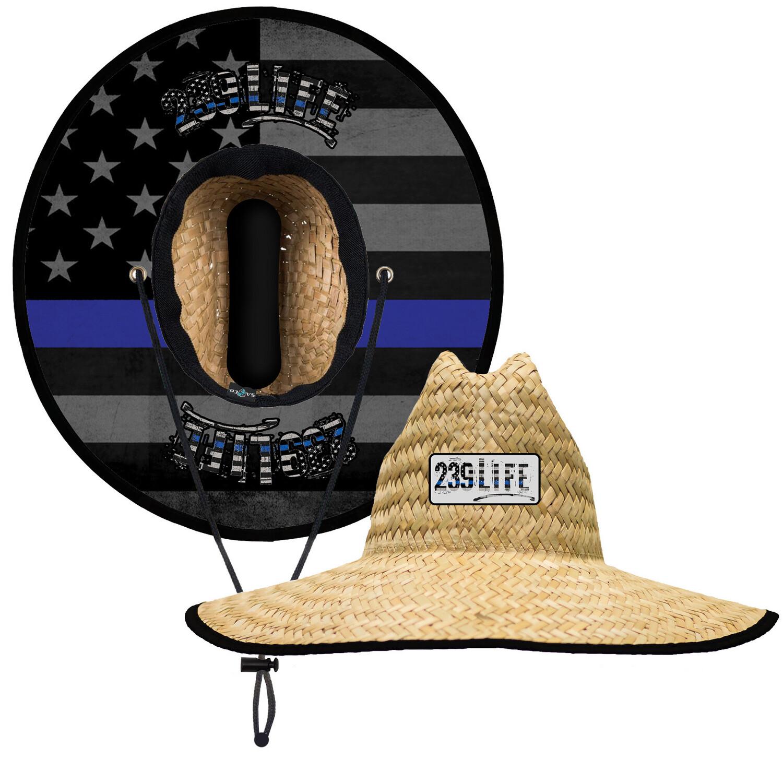239Life Blue Line Straw Hat