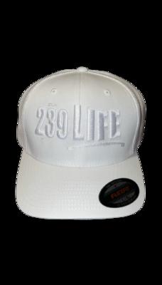 All White 239Life Logo Hat