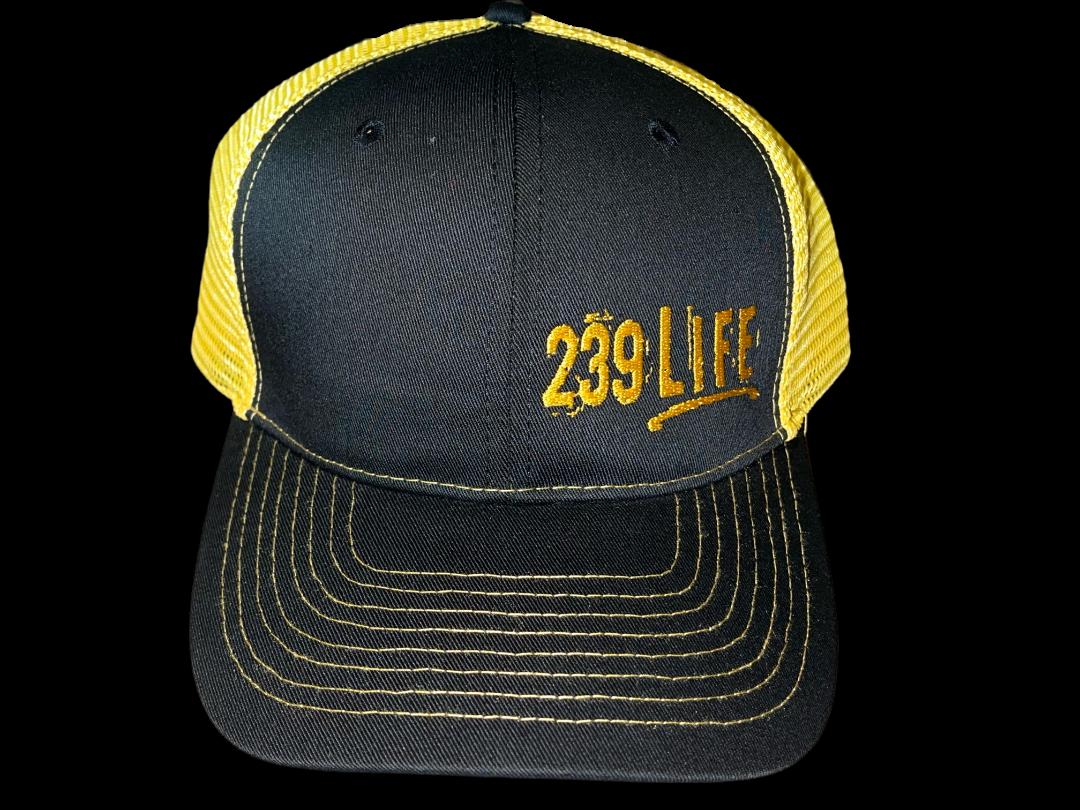 Black and Yellow Logo Hat