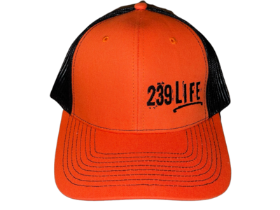 Orange and Black Logo Hat