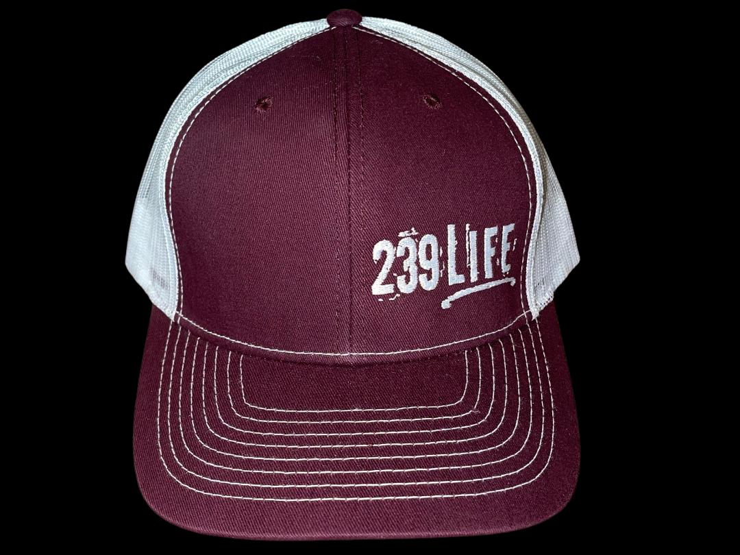 Plum and White Logo Hat
