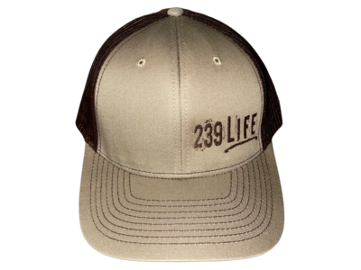 Tan and Brown Logo Hat