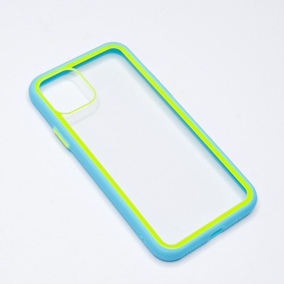Estuche EL REY Marco De Color Celeste Y Parte De Atras Transparente - Iphone 11 Pro Max