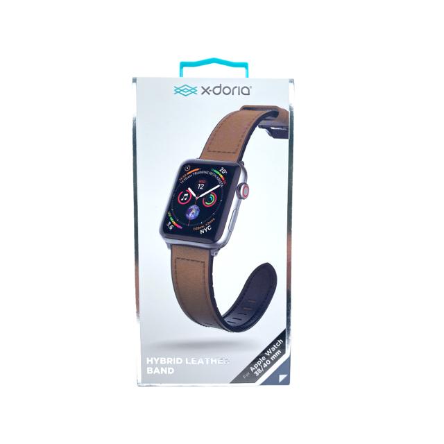XDORIA Pulsera De Cuero Cafe  Apple Watch 38 / 40 Mm