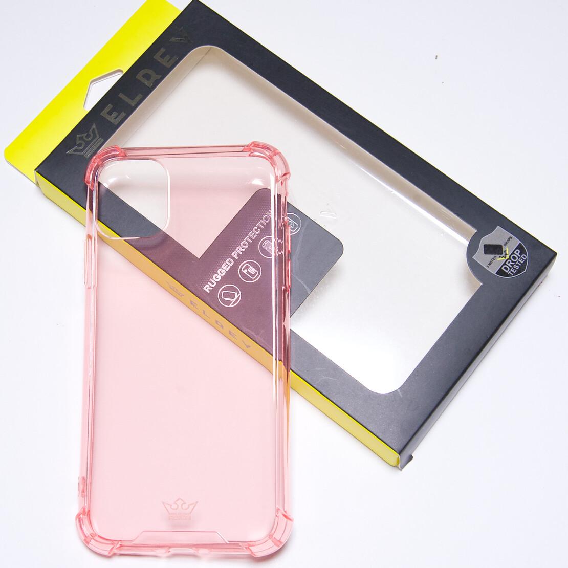 Estuche EL REY Hard Case Flexible Reforzado Rosado  Iphone 11 Pro