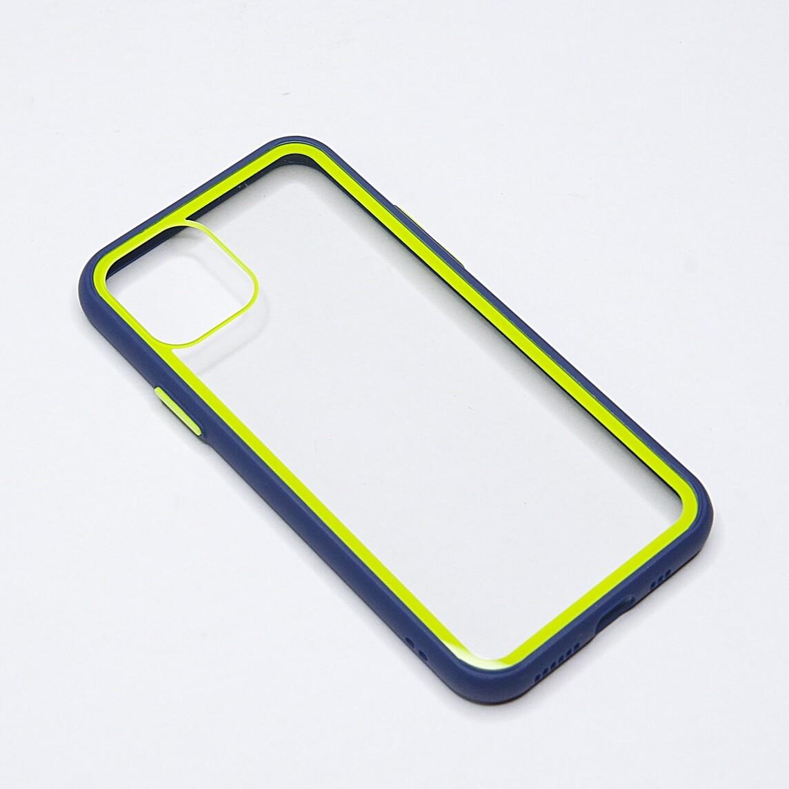 Estuche EL REY Marco De Color Azul Y Parte De Atras Transparente - Iphone 11