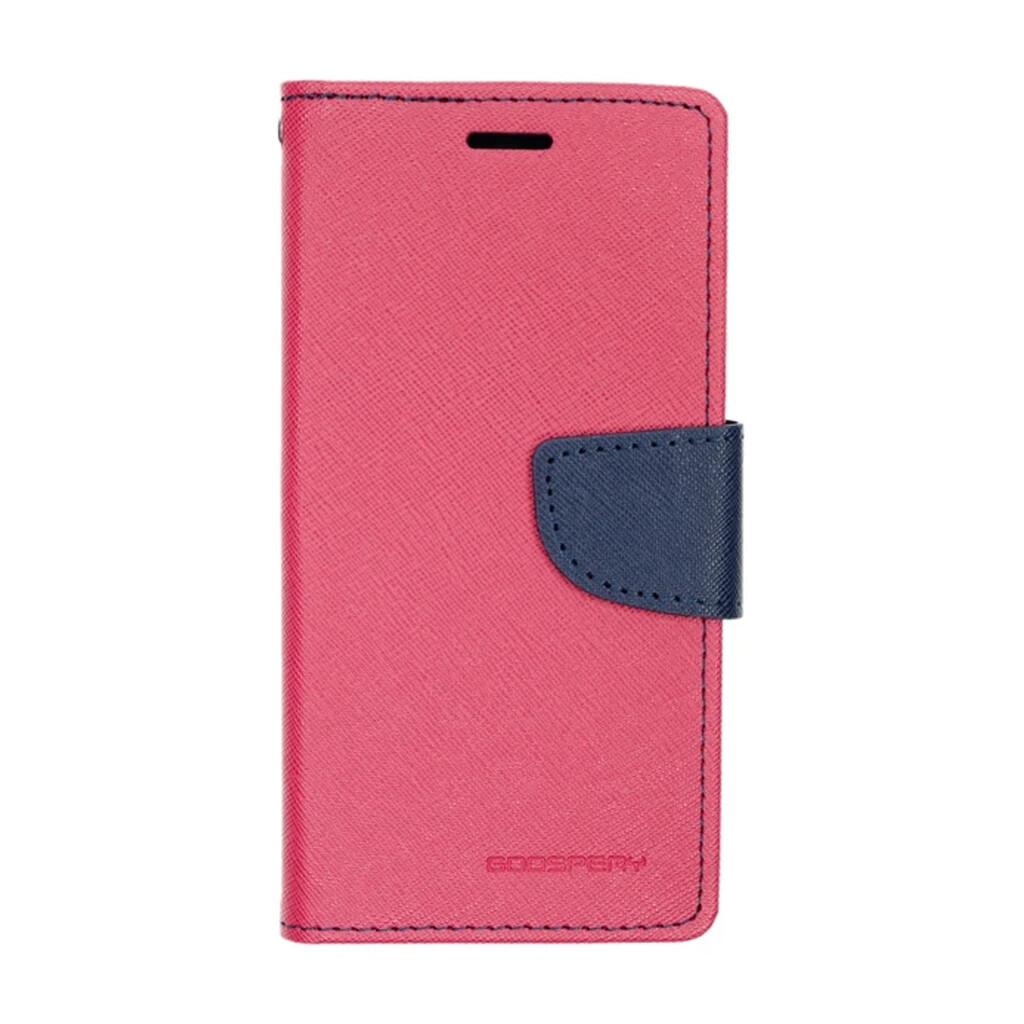 Estuche GOOSPERY Fancy Diary Fucsia/ Azul Marino - IPHONE 6   7   8 PLUS