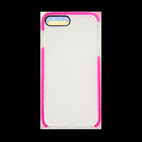 Estuche EL REY Mesh Transparente/Fucsia - Iphone 7 Plus