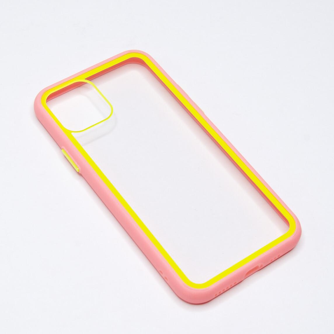 Estuche EL REY Marco De Color Rosado Y Parte De Atras Transparente - Iphone 11 Pro Max