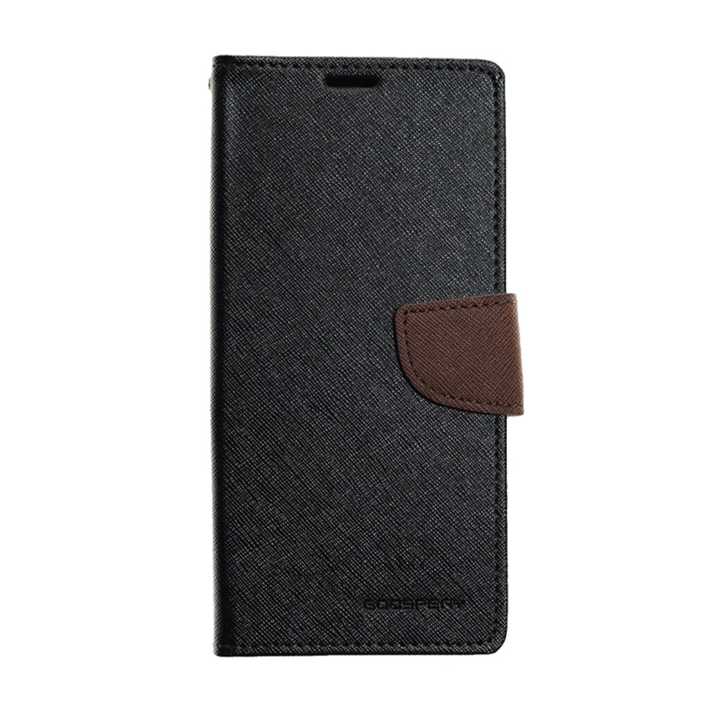 Estuche GOOSPERY Fancy Diary Negro/Café - SAMSUNG S8 PLUS