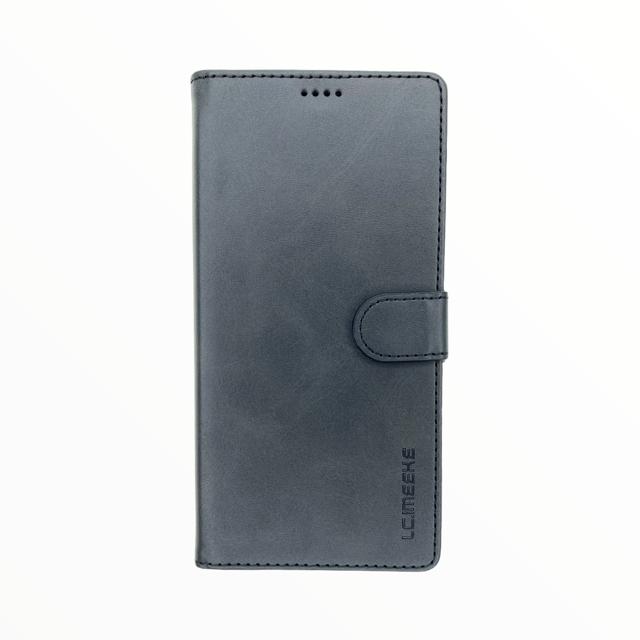 Estuche LC IMEEKE Libreta Con Porta Tarjeta Negro - Samsung Note10 Lite / A81