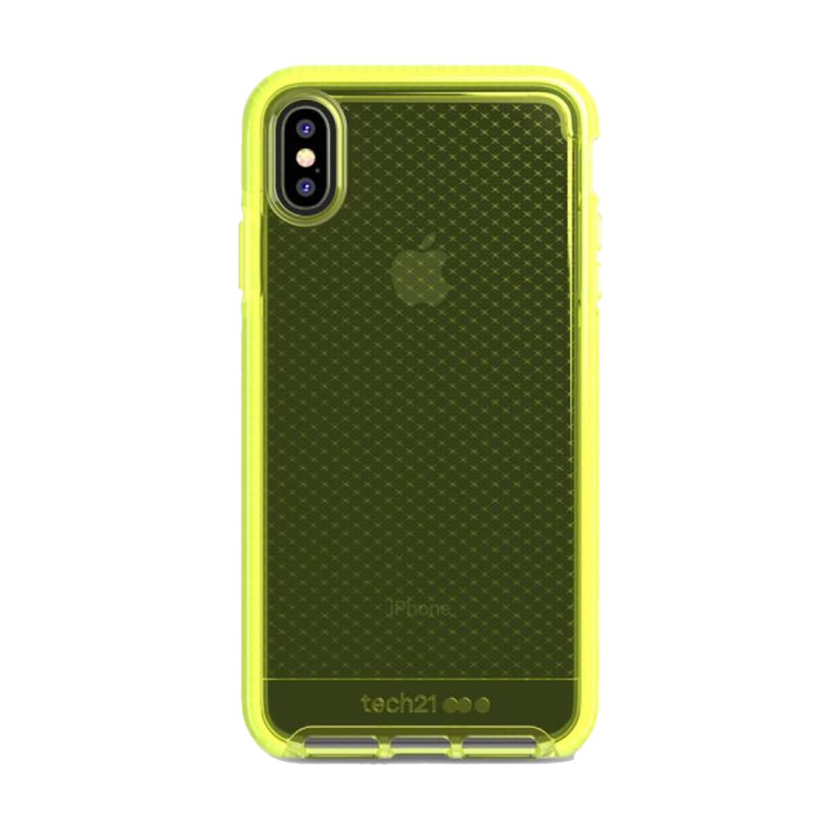 Estuche TECH21 Evocheck  Amarillo IPHONE XS MAX (6.5)