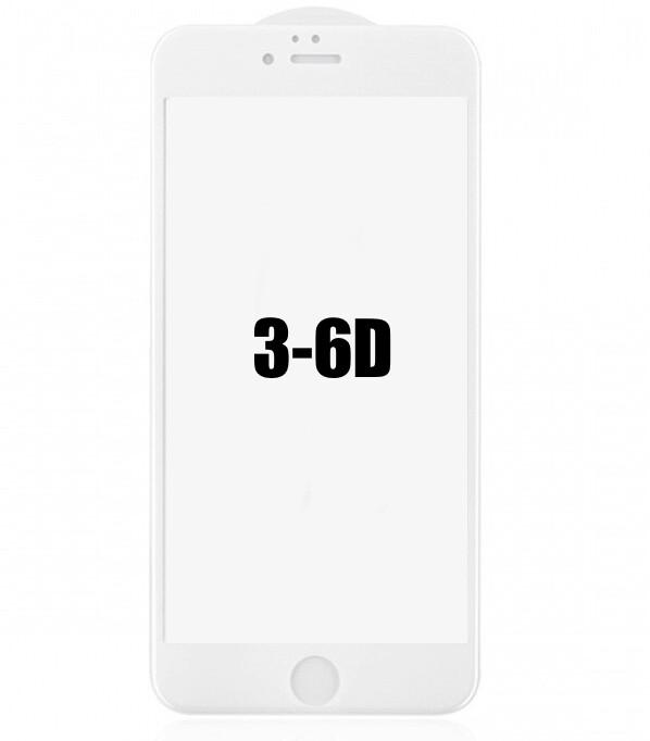 EL REY Vidrio Templado 3D - 6D IPHONE 6   6S PLUS BLANCO