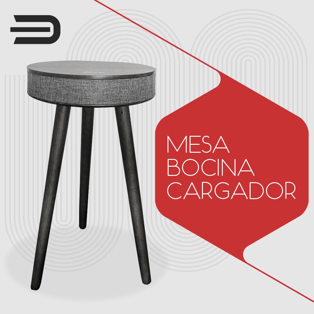 GEN Ecco Design Mesa de madera , cargador inalambrico y bocina bluetooth