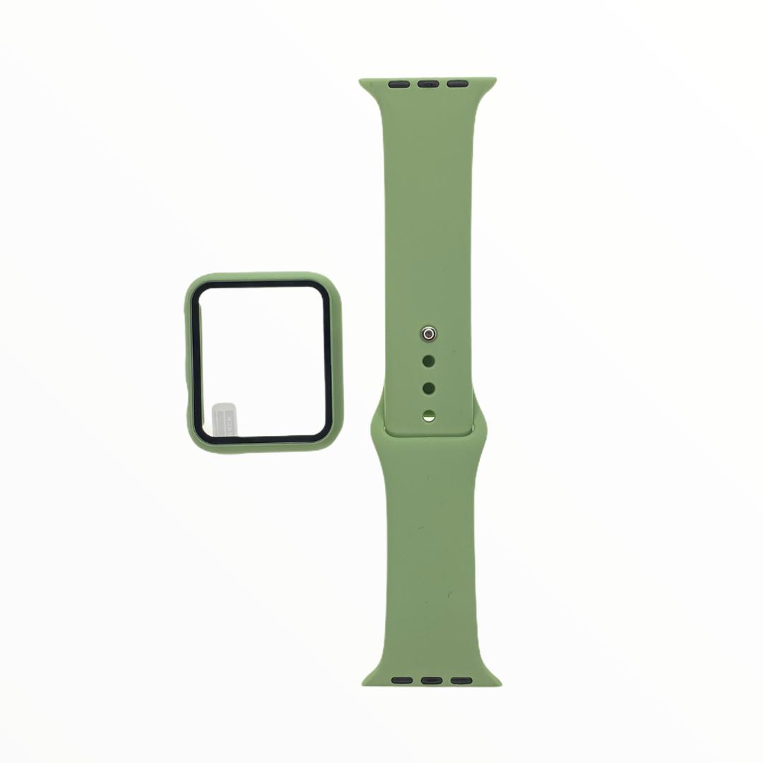 EL REY Pulsera + Bumper Con Protector De Pantalla Para  Apple Watch 40 Mm Color Verde Claro