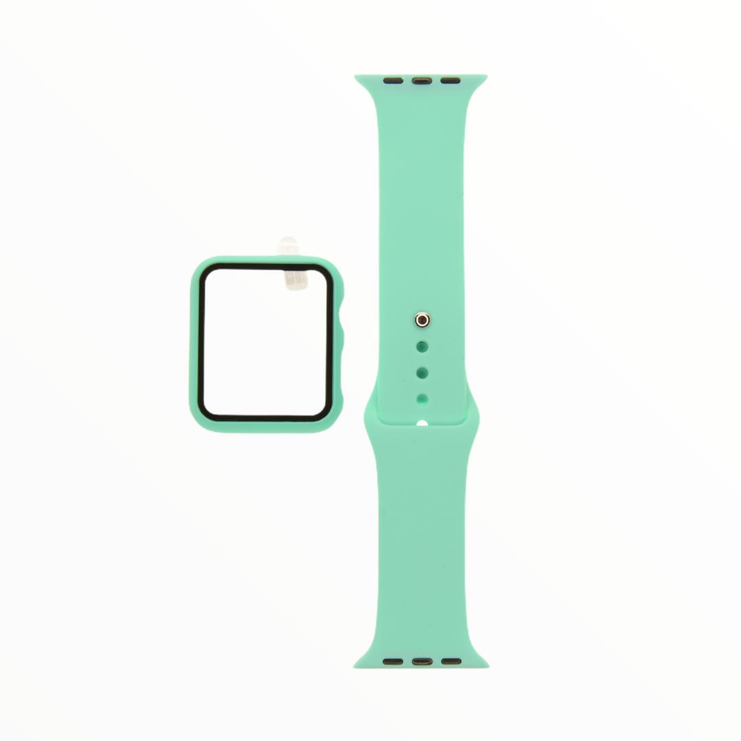 EL REY Pulsera + Bumper Con Protector De Pantalla Para  Apple Watch 42 Mm Color Menta
