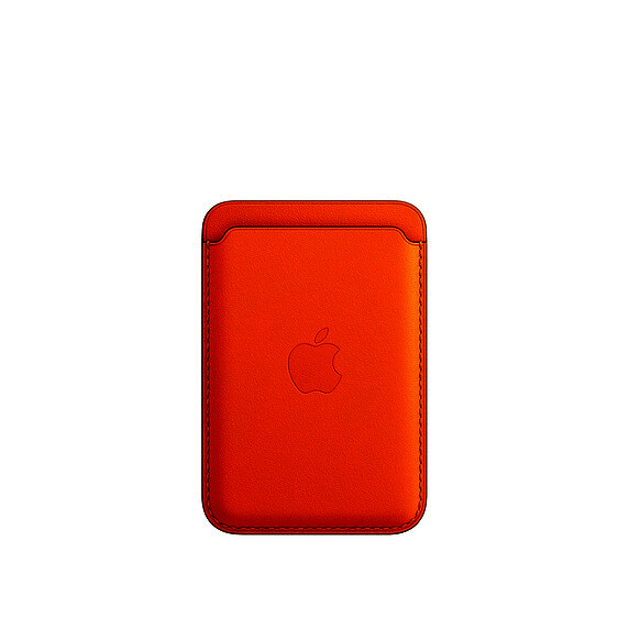 APPLE Wallet de cuero com MagSafe - ROJO