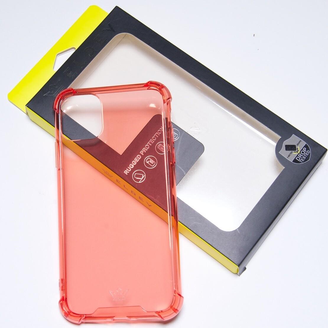 Estuche EL REY Hard Case Flexible Reforzado Rojo  Iphone 11 Pro Max