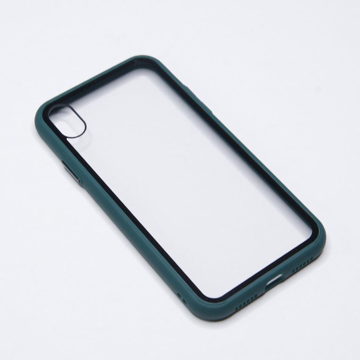 Estuche EL REY Marco De Color Verde Y Parte De Atras Transparente - Iphone Xs Max