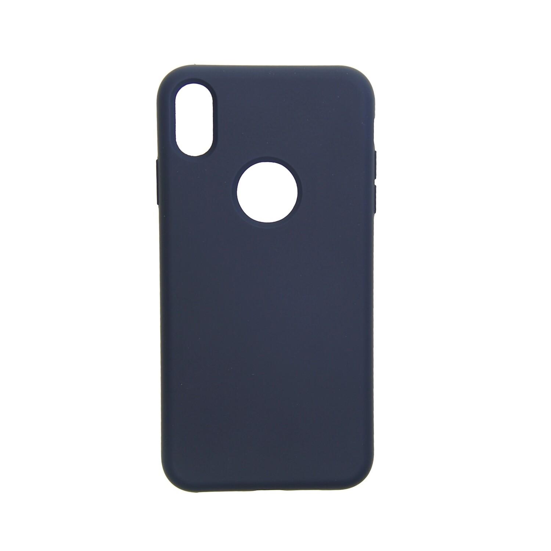 Estuche EL REY Silicon Azul Marino - Iphone Xs Max