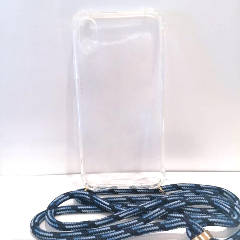 Estuche EL REY Hard Case Con Laso Azul/Negro  Iphone Xs