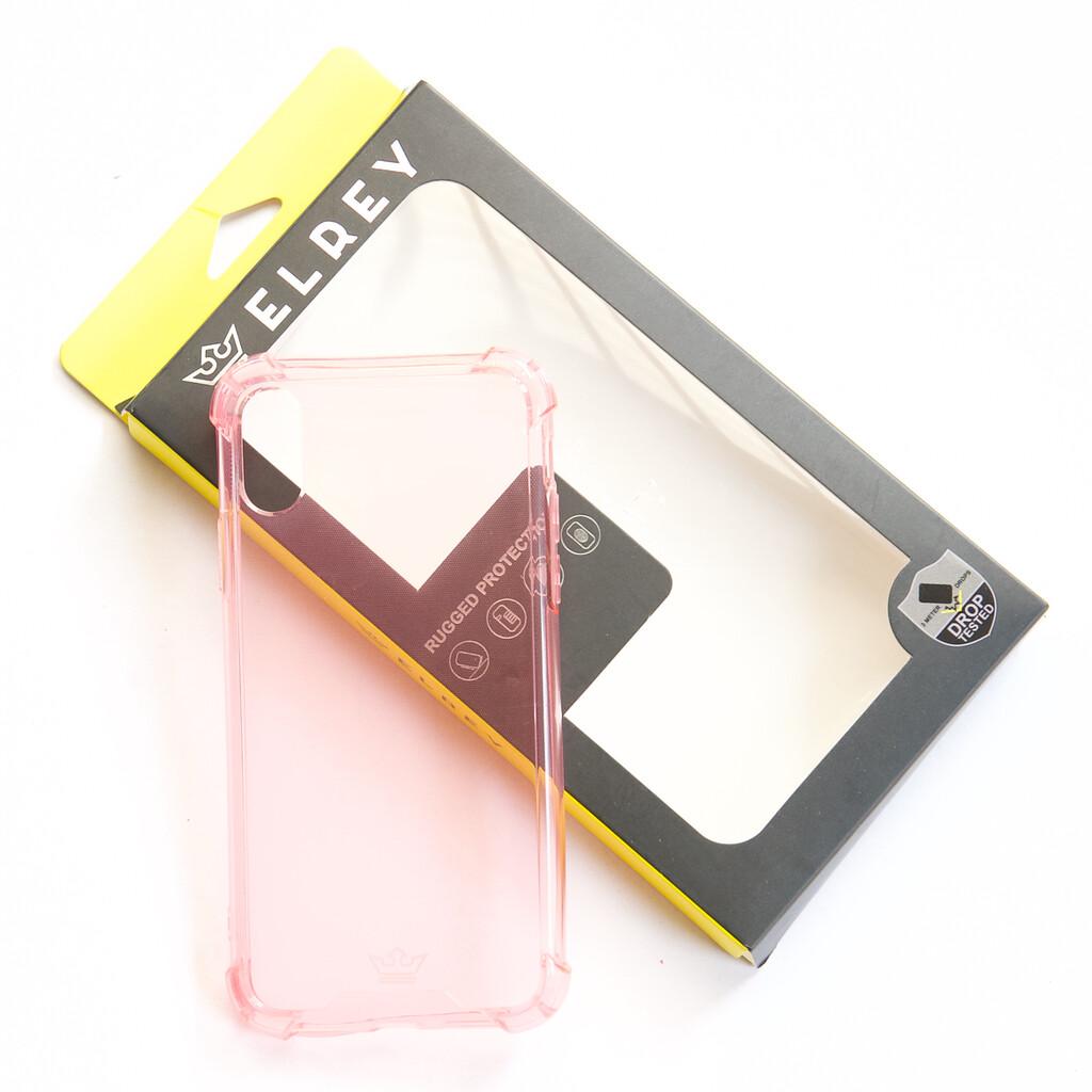 Estuche EL REY Hard Case Flexible Reforzado Rosado Iphone Xs Max