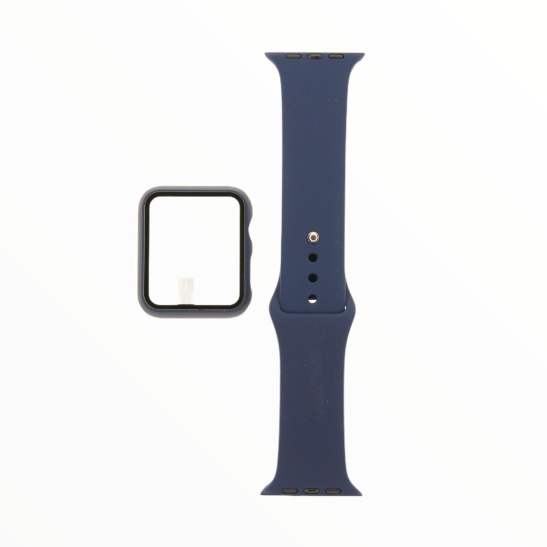 EL REY Pulsera + Bumper Con Protector De Pantalla Para  Apple Watch 42 Mm Azul