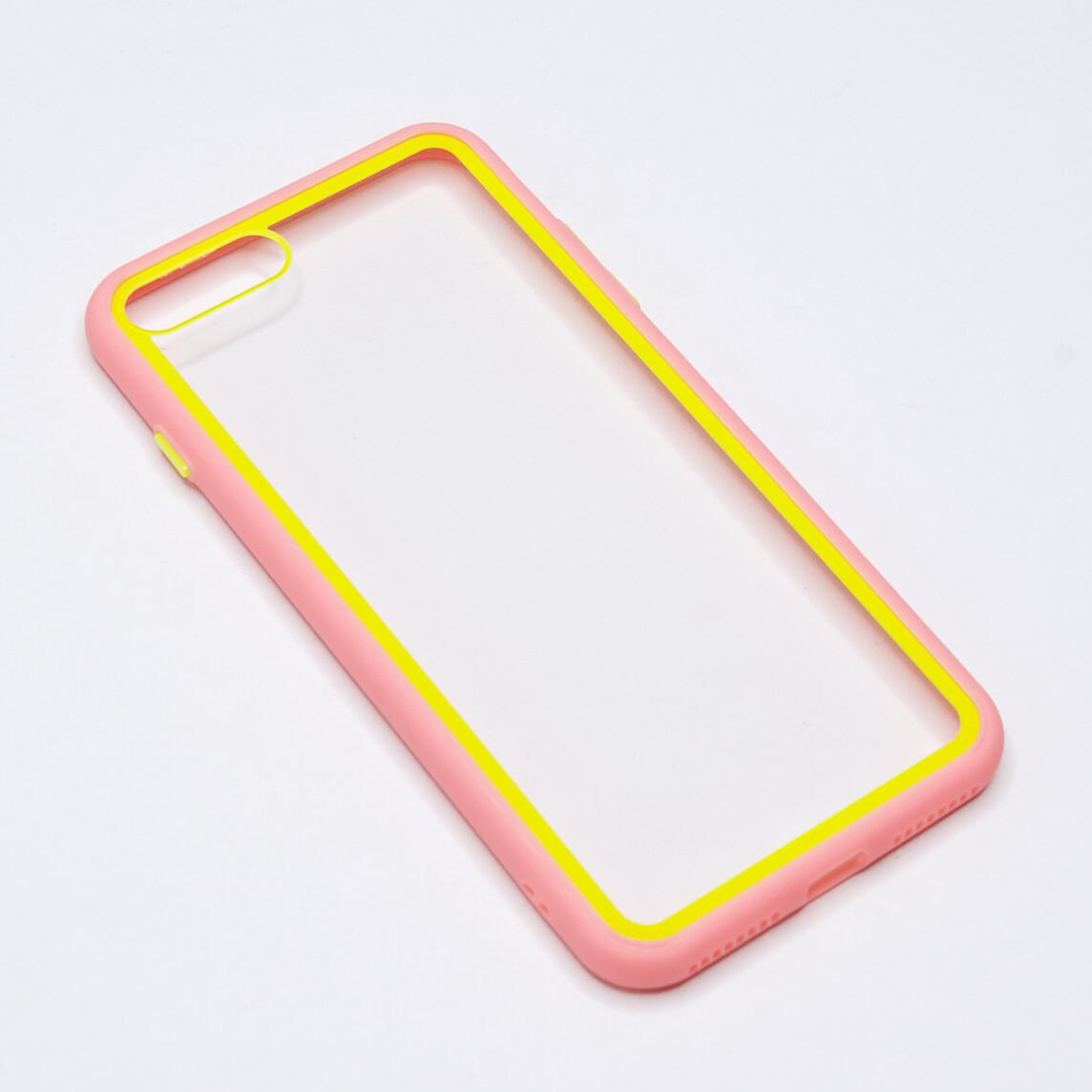 Estuche EL REY Marco De Color Rosado Y Parte De Atras Transparente - Iphone 7 /8