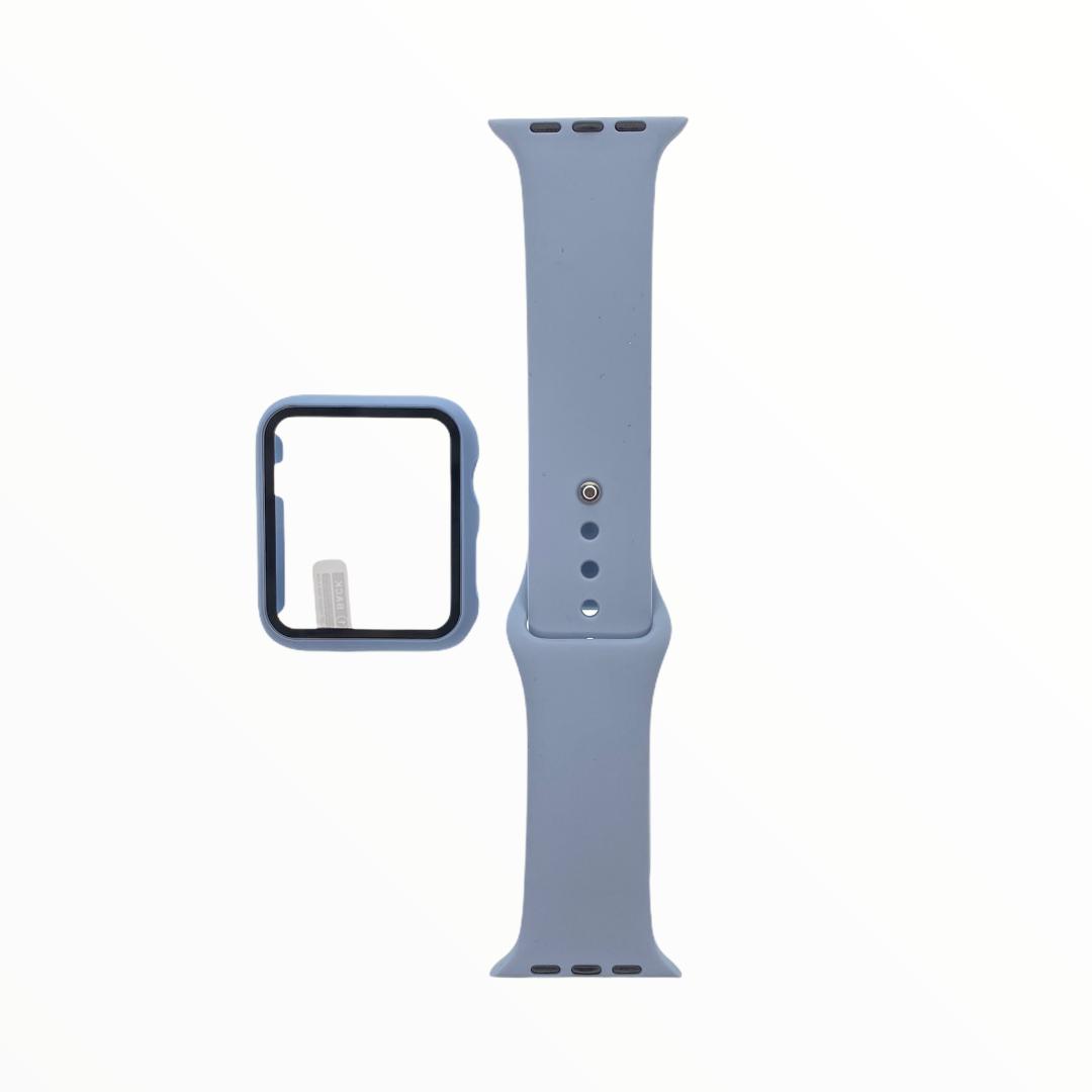 EL REY Pulsera + Bumper Con Protector De Pantalla Para  Apple Watch 40 Mm Color - Celeste Claro