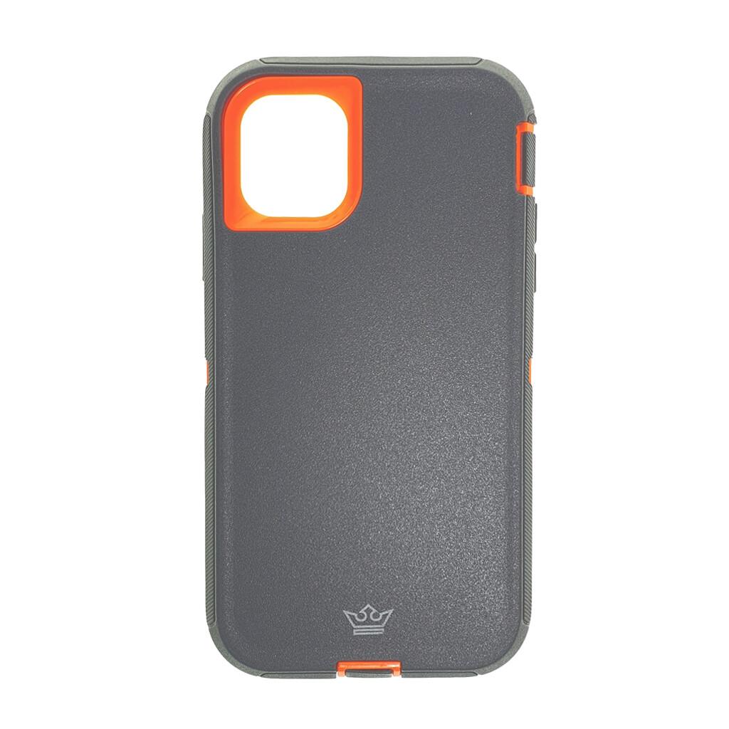 Estuche EL REY Defender  Gris / Naranja- IPHONE 11 PRO (5.8)