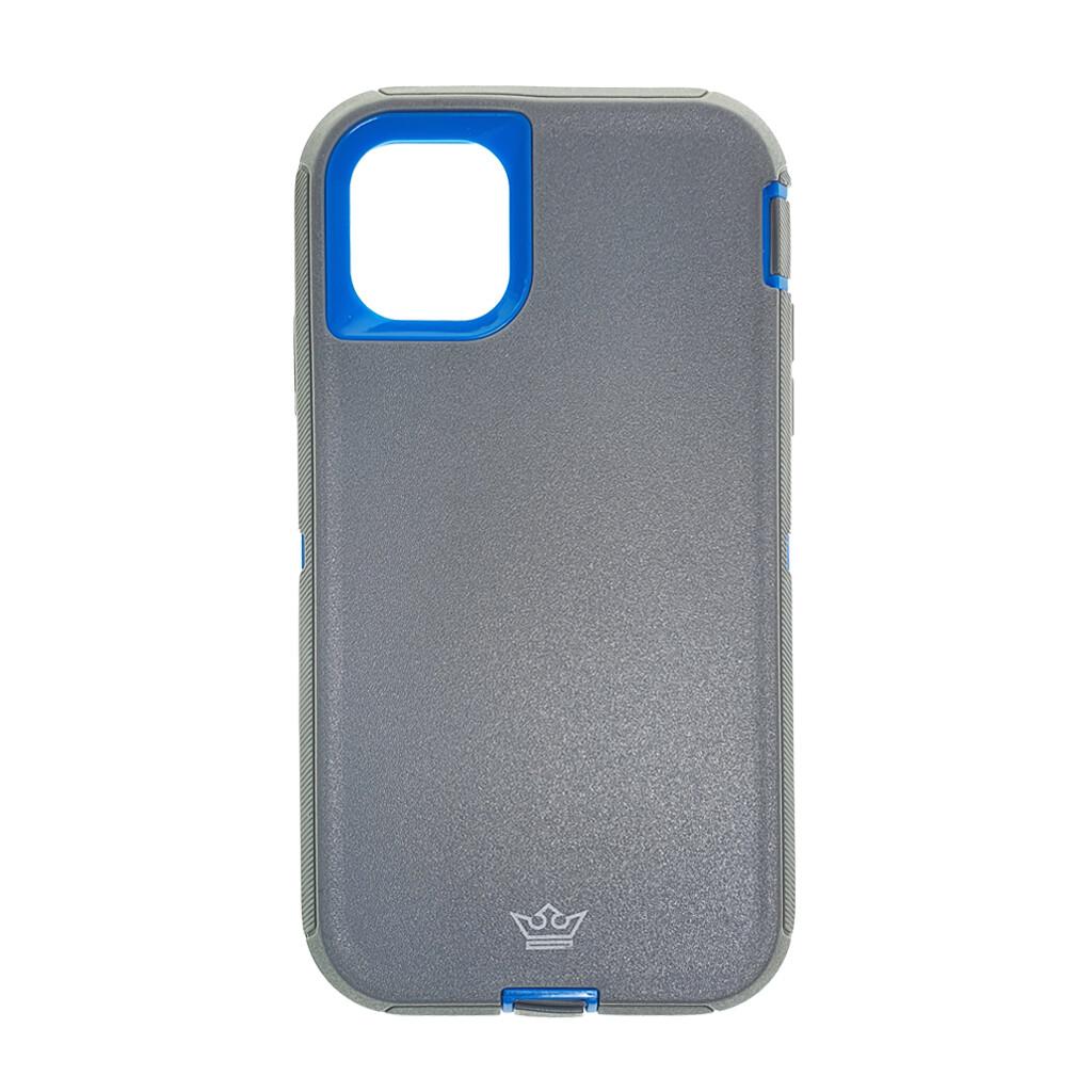 Estuche EL REY Defender  Gris / Azul- IPHONE 11 PRO (5.8)