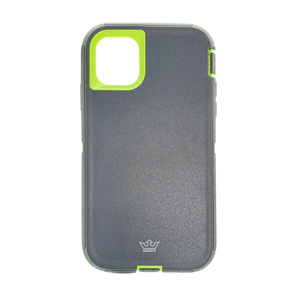 Estuche EL REY Defender  Gris / Verde- IPHONE 11 PRO (5.8)