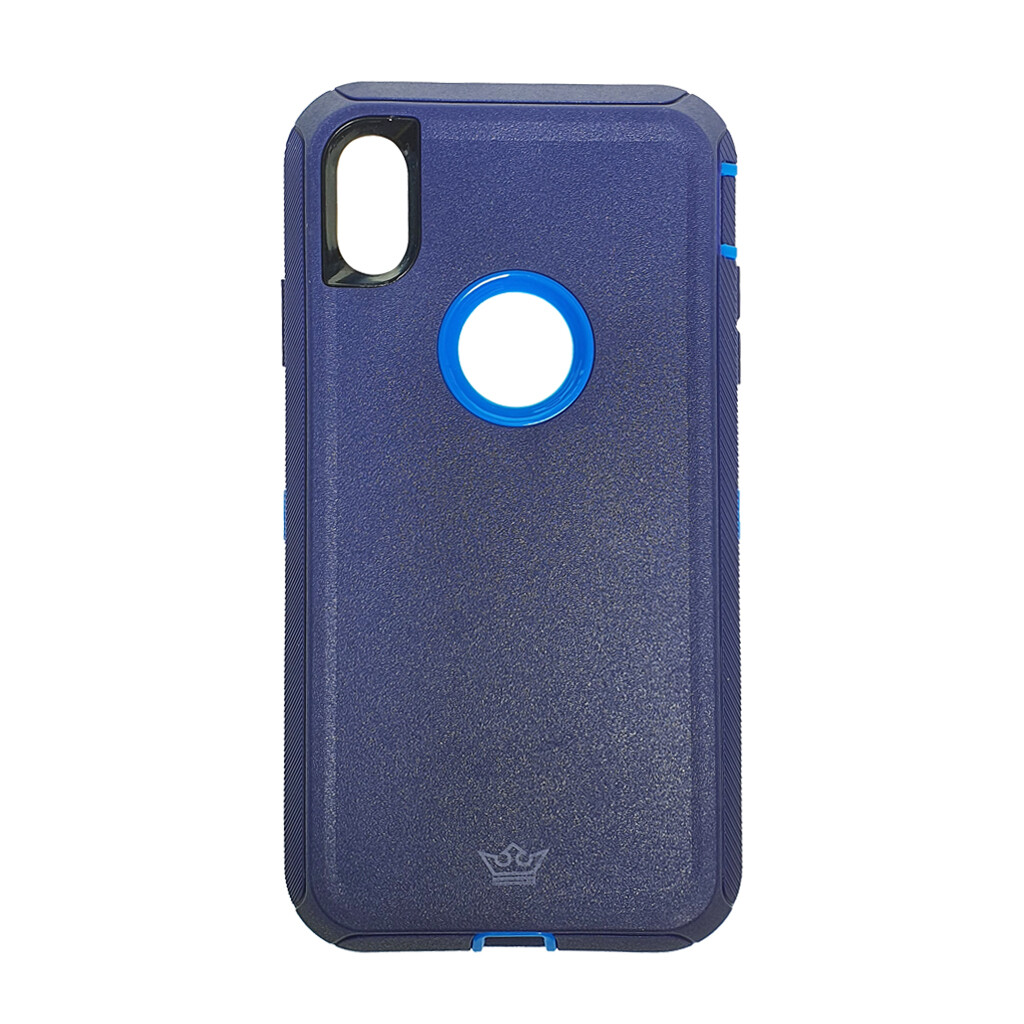 Estuche EL REY Defender Azul- IPHONE XS MAX (6.5)