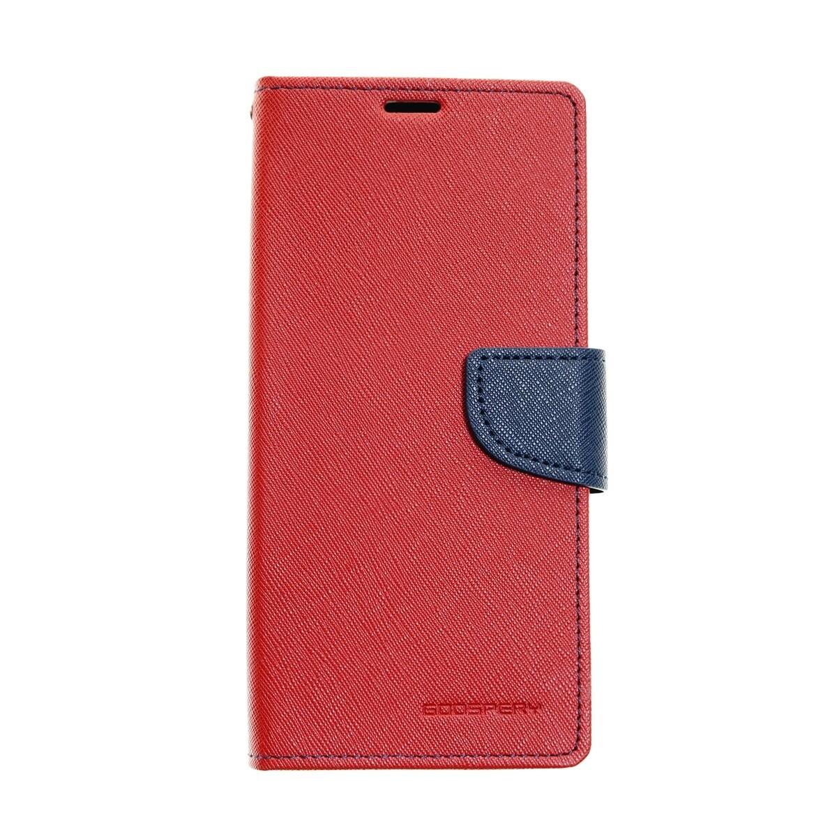 Estuche GOOSPERY Fancy Diary Rojo/Azul Marino IPHONE X | XS (5.8)