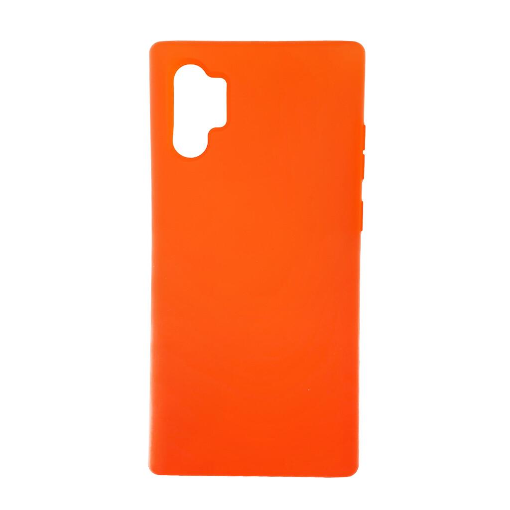 Estuche EL REY Silicon  Naranja - Note 10 Plus