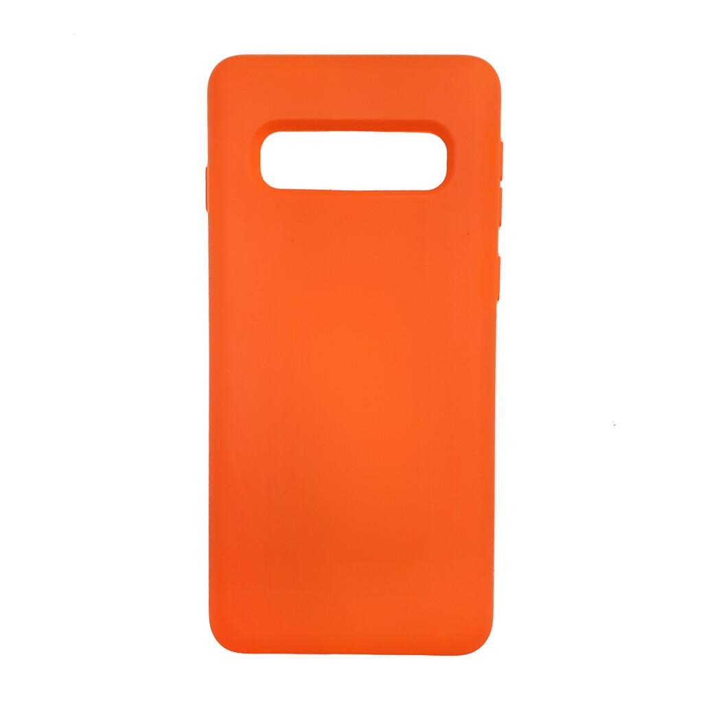 Estuche EL REY Silicon  Naranja  - S10 Plus